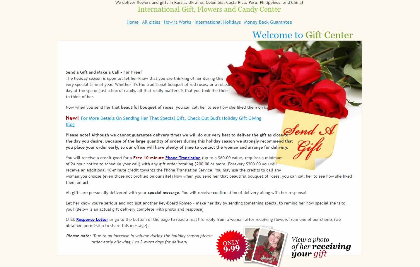 A Foreign Affair gift center page image for international dating site review