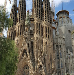 The facade of Sagrada Familia in Barcelona, Spain. A potential venue of one of your best dates.