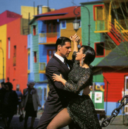 A couple dancing tango in Buenos Aires where it's easy to meet women who can tango like no other.