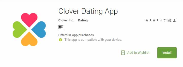 Clover Android app icon image for international dating site review