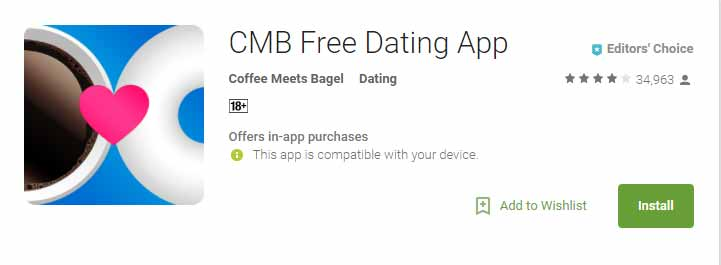 Coffee Meets Bagel app icon image for international dating site review