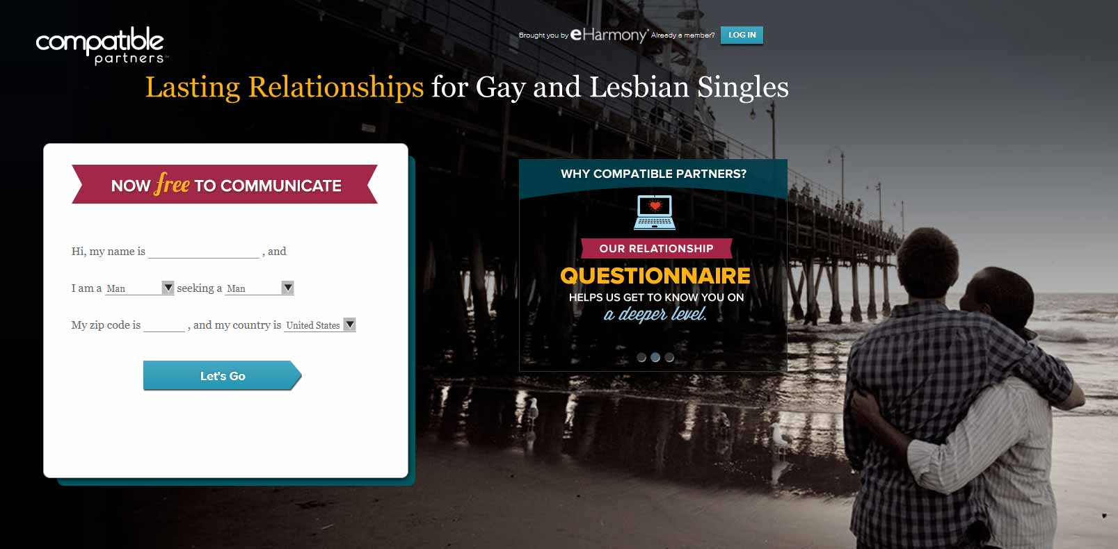 International gay online dating