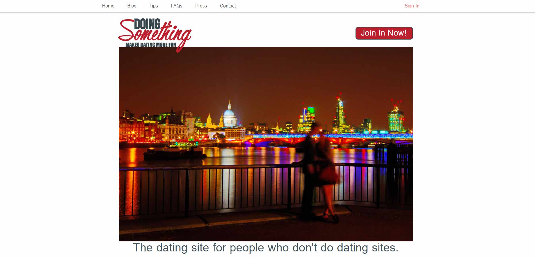 Doing Something home page image for international dating site review