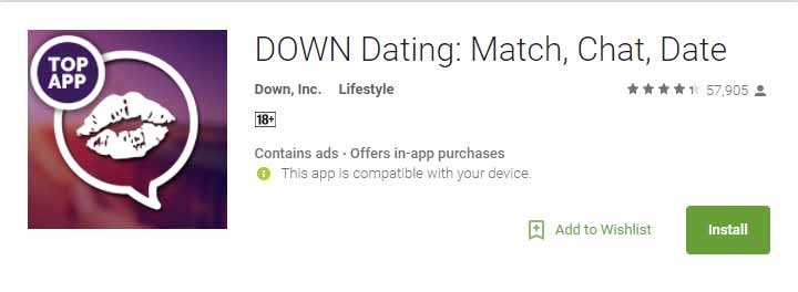 Down Android app icon image for international dating site review
