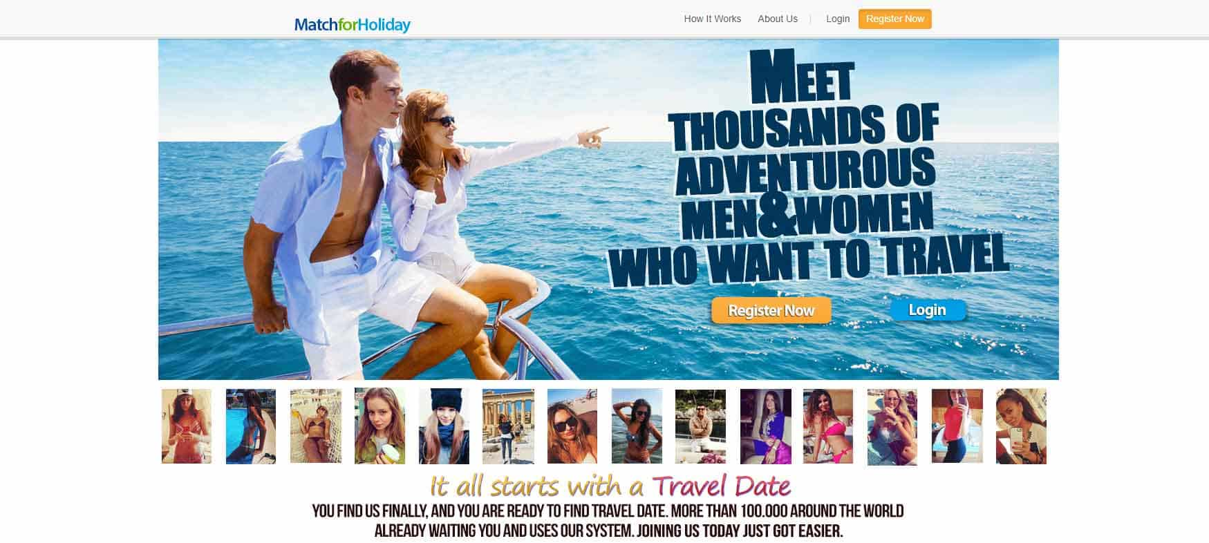 Match for Holiday home page image for international travel and dating site review