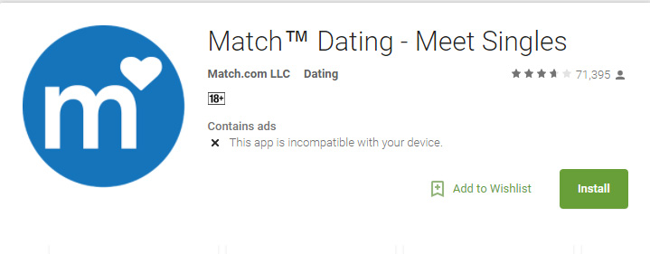 Match Android app icon image for international dating site review