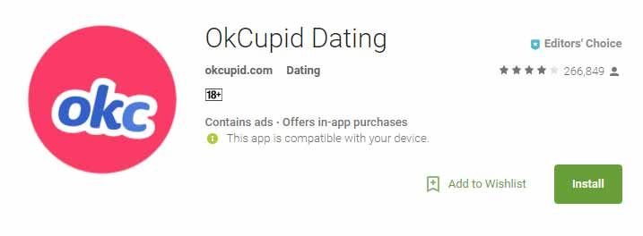 OkCupid. Chemistry.com home page for international dating site review