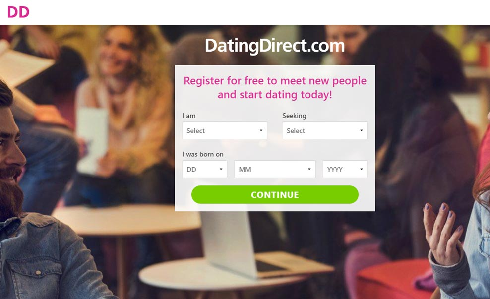 DatingDirect.Com Homepage screenshot for international dating site review