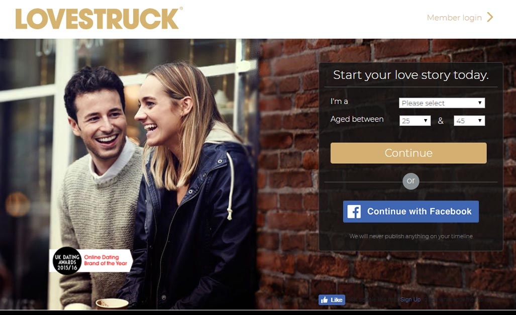 Screen grab of Lovestruck.Com for international dating site review