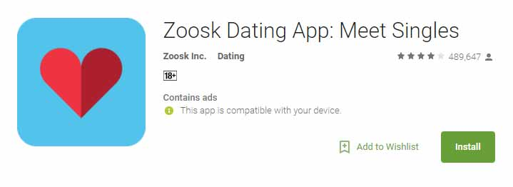 Zoosk Android app icon image for international dating site review